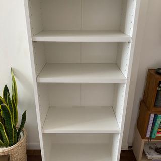 本棚(ホワイト・可動棚3枚つき)