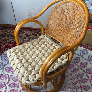 籐製 回転座椅子