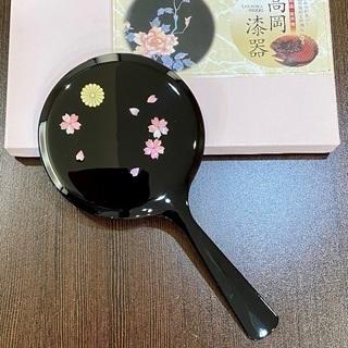 〇 Summer SALE  高岡漆器 桜・青貝塗手鏡 〇