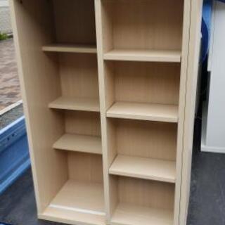 【スライド式本棚】ナチュラルブラウンで使いやすいサイズ♪