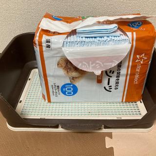 犬用トイレトレー&シーツストッパー ペットシーツ