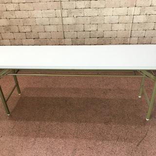 テーブル 折り畳み式 会議用 ミーティング 180cm幅 白