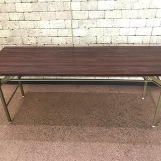 テーブル 折り畳み式 会議用 ミーティング 180cm幅 茶