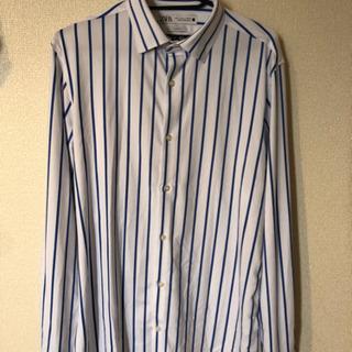【未使用】男性用ZARA ストライプシャツ スリムフィット