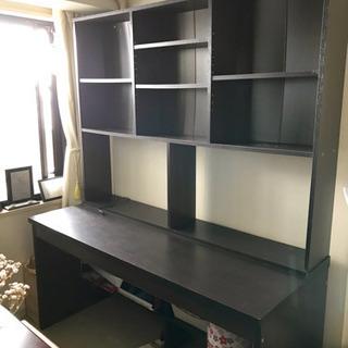 本棚付き勉強机、テーブル、パソコンデスクなどさまざまな仕様可能
