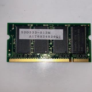 ノートパソコン用メモリ IO DATA 512MB