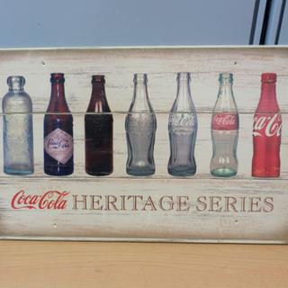 コカ・コーラ 木製看板 タテ27×ヨコ44 サイン 瓶デザイン ...