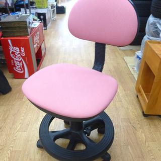 学習チェア 学習椅子 イス 回転チェア ピンク キャスター付き ...