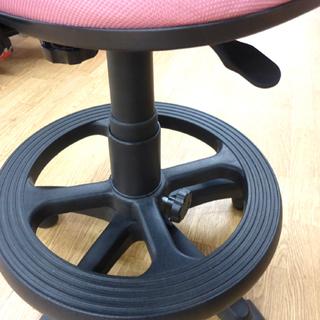 学習チェア 学習椅子 イス 回転チェア ピンク キャスター付き 札幌市 清田区 平岡 - 家具
