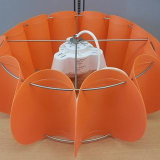 パンプキンペンダントライト LED電球 電球形蛍光灯 白熱灯対応...