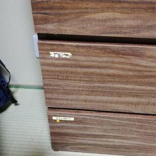 【無料】木目調4段ボックス