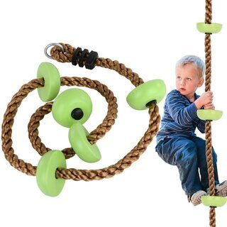 クライミングロープ 室内遊び 五つノート 子供ノットロープ…