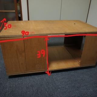 【椅子にも、机にもなる】キャスター&収納付き自作家具♪