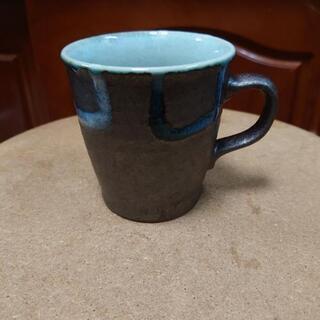 マグカップ(陶器模様 黒色)