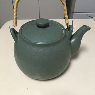 煎じ用土びん 亀甲土瓶2.0リットル 緑色