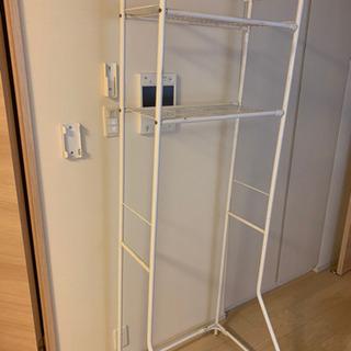 収納棚 洗濯機上に置くと洗濯機収納棚 伸縮タイプ