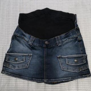 【マタニティ】[EDWIN]スカート風ショートパンツ  Lサイズ