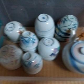 USED 茶器湯呑茶碗 10個+ Noritake土瓶+新品 黒...