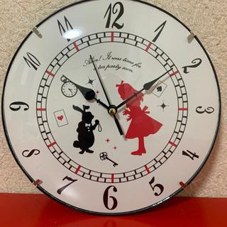 ディズニー 不思議な国のアリス 壁掛け時計 新品未使用品