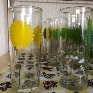 【懐かしすぎ】昭和レトロなグラス4柄セット
