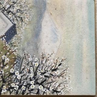 大沼静巖 色紙 「早春の富士」