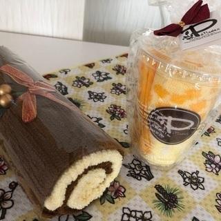 【美品】ロールケーキ 2色とマンゴー・スムージーのタオルセット