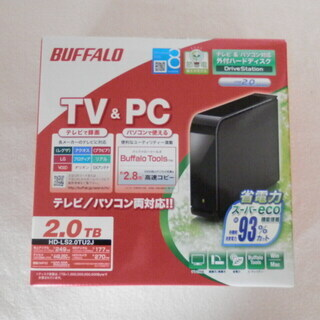 BUFFALO 外付けハードディスク 2TB