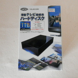 LaCie  外付ハードディスク 1TB(エレコム)