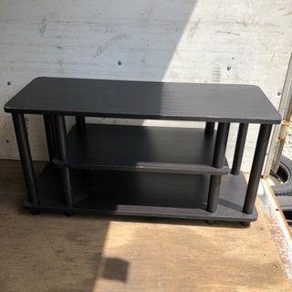 0809-10 収納ラック 木 黒