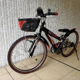 24インチ 男児用自転車  変則ギア スピードメーター付