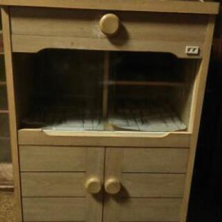 小型食器棚(レンジ台)