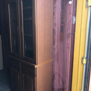 0809-17 食器棚 木