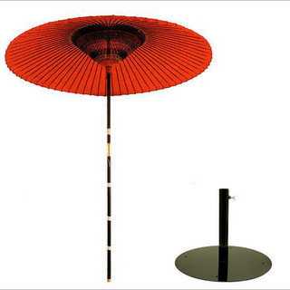 【茶道具 野点傘】3.5尺 茶席用野点傘 2点セット(本体+鉄製...