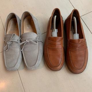メンズ革靴ローファー2足セット
