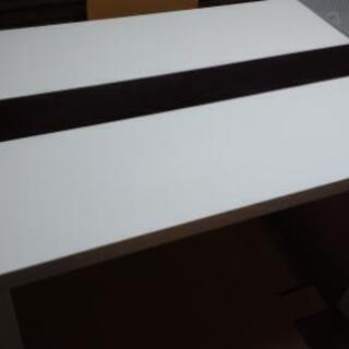 ダイニングテーブル(白)1100×750