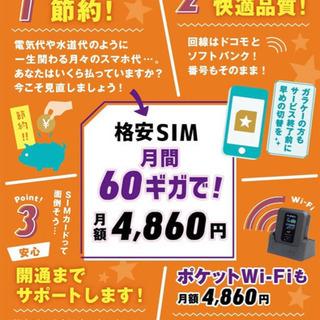 携帯代見直し! 60Gで4860円