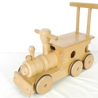 3106 木製 手押し車 汽車 幼児玩具 歩行器 D51×W20...