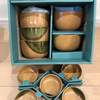 【未使用】陶器お茶碗小鉢セット