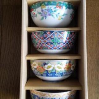 綺麗な柄の茶碗5組セット