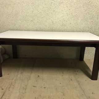 木製 応接テーブル ちゃぶ台 ローテーブル 座卓 幅120cm×...