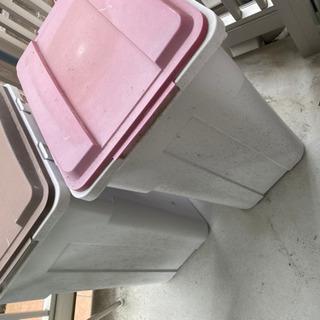 ゴミ箱 45Lサイズ 赤色