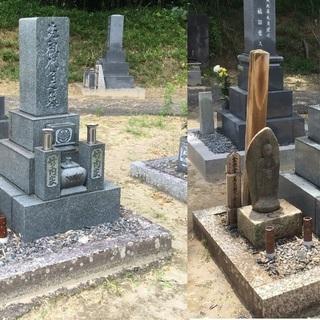 墓石再生!!くすんだお墓きれいにします! 文字の塗り直しも致します。 − 愛知県
