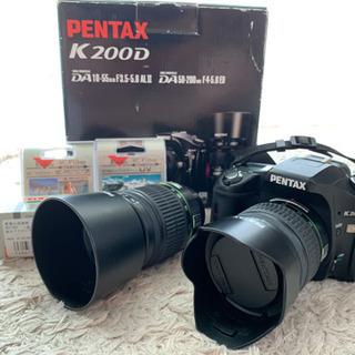 デジタル一眼レフカメラ PENTAX K200D ダブルズームキット