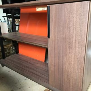木製◆リビングボード ウォールナット色③