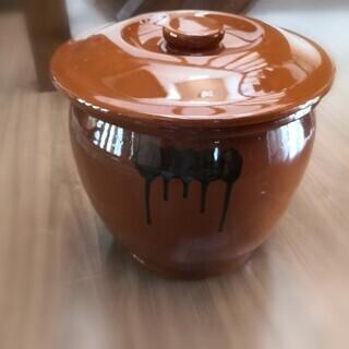 常滑焼 丸 かめ 壺 蓋付き 梅干し 味噌 漬物保存容器★8号