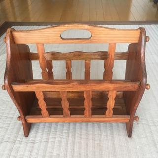 🌷木製 マガジンラック