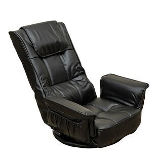 新品/座椅子/レバー式/ブラック/回転/リクライニング
