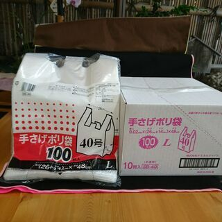 レジ袋40号(ペット1.5L3本サイズ)100枚×10袋 半...
