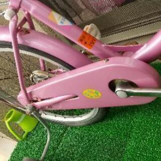 女児自転車 20インチ補助輪付き