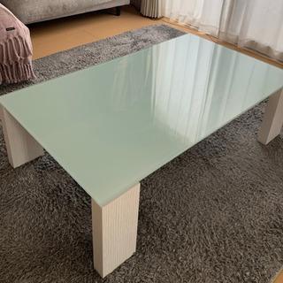 ガラス製 ローテーブル